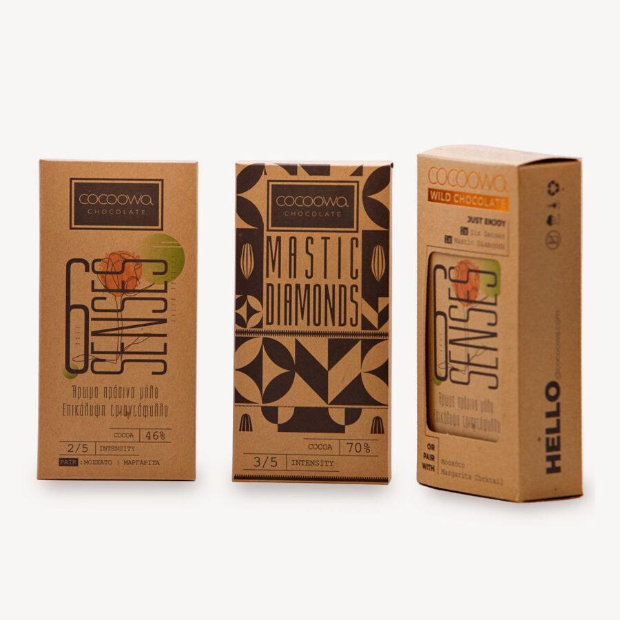 Συσκευασίες πακέτου σοκολατών Cocoowa Six Senses